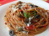 Špagety alla puttanesca recept