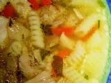 Krůtí vývar s masem a těstovinou recept