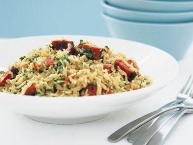 Rýže s klobásou chorizo