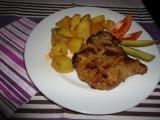 Marinovaná krkovička s pečenými brambory recept