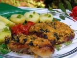 Vepřové plátky s polentovou drobenkou recept