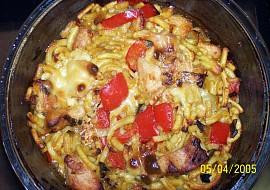 Zapečené špecle s masem,orestovanou zeleninou a sýrem recept ...