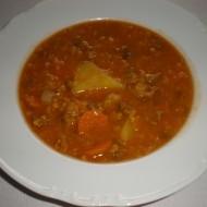 Indická polévka z červené čočky recept