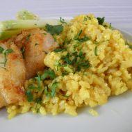 Šafránová rýže s treskou recept