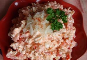 Pikantní cottage salát