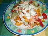 Zeleninový salát s nivou recept