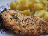 Křupavá kuřecí prsa v Gran Moravii s dušeným špenátem recept ...