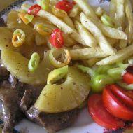 Srnčí medailonky na ananasu recept