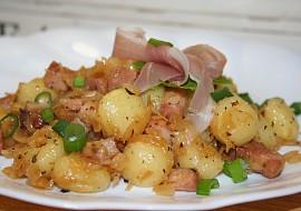 Gnocchi po česku  se zelím a slaninou recept