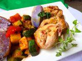 Králičí závitky na tymiánu s pečenou zeleninou recept