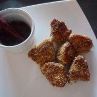 Švestkové chutney se smaženým hermelínem recept