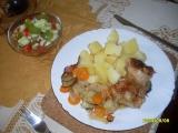 Kuřecí stehýnka se zeleninou recept