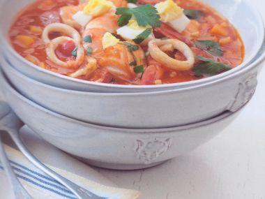 Španělská rybí polévka s rýží