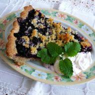 Celozrnný borůvkový koláč s drobenkou recept