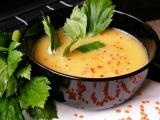 Krémová polévka z červené čočky recept