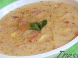 Celerová polévka s uzeným masem recept