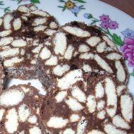 Čokoládový salám s piškoty recept