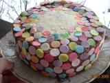 Točený dort s marcipánovou šlehačkou recept