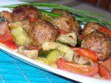 Kuličky z mletého masa pečené se zeleninou recept