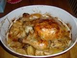 Kuře pečené s jablky recept