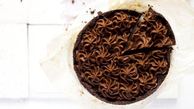 Koláč s mascarpone a kávovým krémem