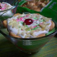 Barevný piškotový dezert recept