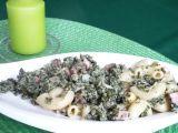 Těstoviny se šunkou a špenátem recept