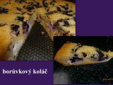 Borůvkový koláč  fofrovník recept