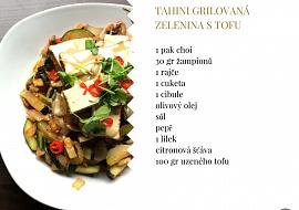 Tahini grilovaná zelenina s tofu recept