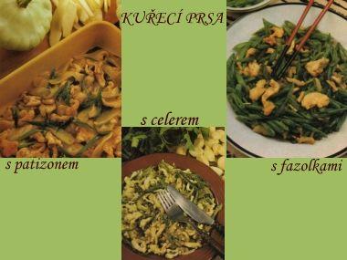 Kuřecí prsa se zeleninou  2 porce
