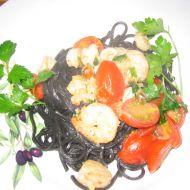 Černé špagety s plody moře recept