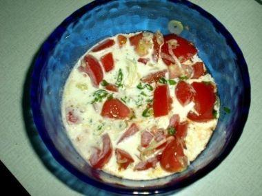 Rajčatový salát s křenem od Lucie