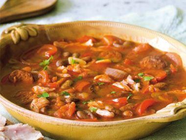 Recept Pikantní staročeská fazolová polévka