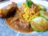 Jemná kýta na garam masala a jablku s kurkumovou rýží recept ...