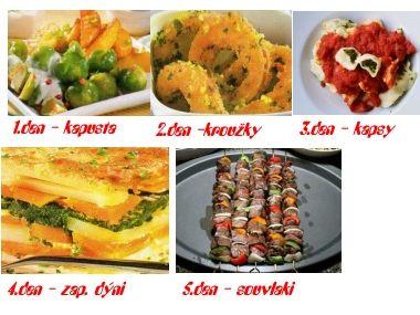 5ti denní dieta  obědy/2 porce