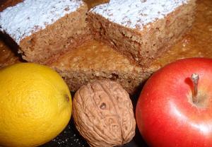 (nejen) Jablkovo  vločkový koláč