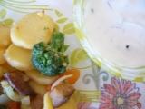 Pečená zelenina s bylinkovým tvarohem recept