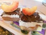 ĆOkoládovo-broskvové řezy recept