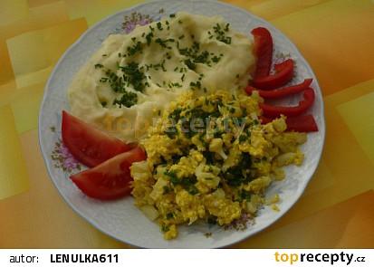 Květákový mozeček s bramborovou kaší recept