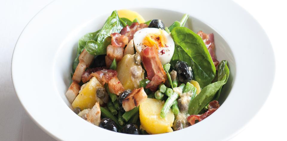 Fazolový salát s vejci