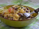 Bramborový salát s fazolemi recept