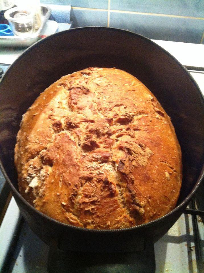 Domácí chléb ze žitné a hladké pšeničné mouky recept ...