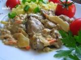 Kuřecí játra se zeleninou Čínská směs recept