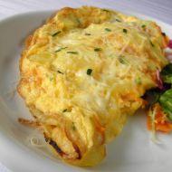 Vaječná omeleta s bramborem a ředkví recept