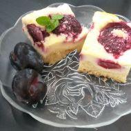 Švestkový koláč s tvarohem recept