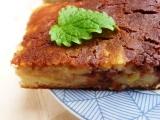 Jablečné řezy v kakaovopomerančovém polštářku z kefíru recept ...