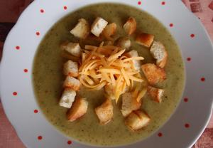 Cuketová (dýňová) polévka se sýrem