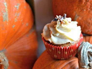 Dýňové cupcakes s mascarpone