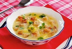 Pivní bramborová polévka