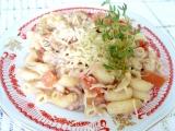 Těstoviny s paštikou a rajčaty recept